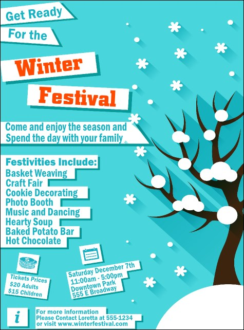 Winter Cut Paper Flyer