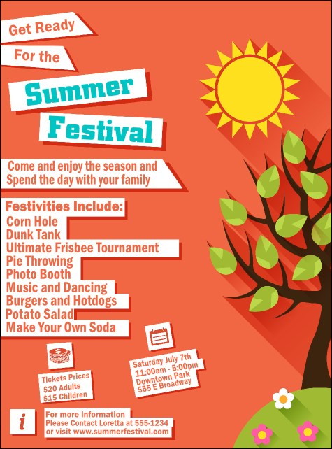 Summer Cut Paper Flyer