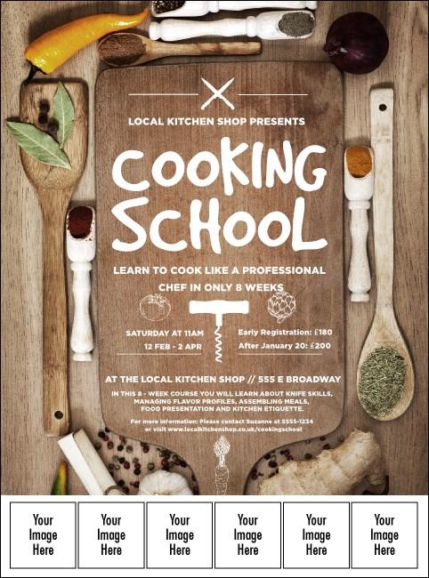 cooking school logo flyer