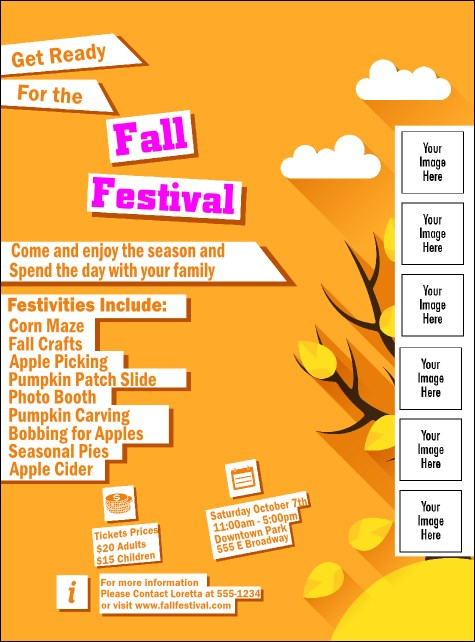 Fall Cut Paper Logo Flyer