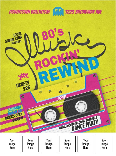 80s Music Logo Flyer