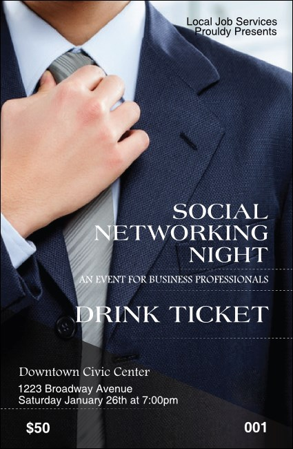 Social Networking Drink Ticket