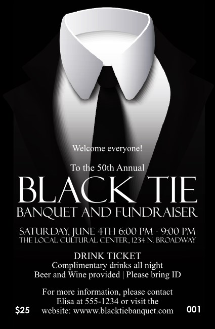 Black Tie Drink Ticket