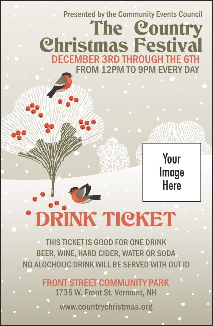 Winter Bird Drink Ticket
