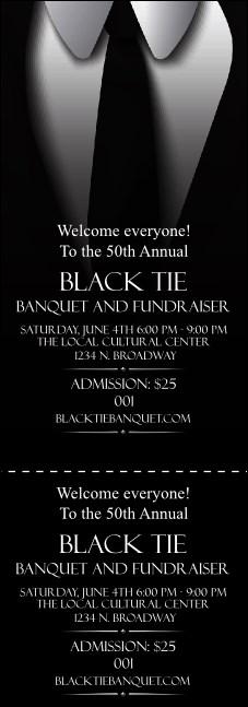 black tie event ticket. Black Bedroom Furniture Sets. Home Design Ideas