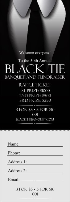 Black Tie Raffle Ticket