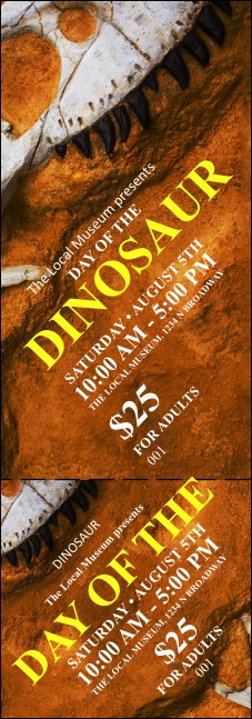 Dinosaur Event Ticket