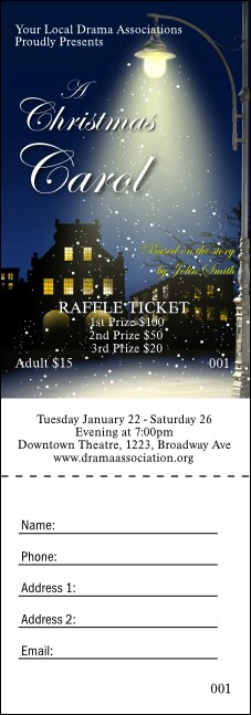 Christmas Carol Raffle Ticket