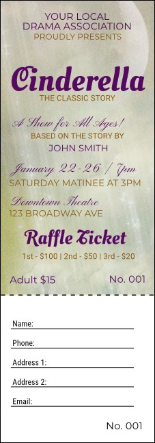 Cinderella Raffle Ticket