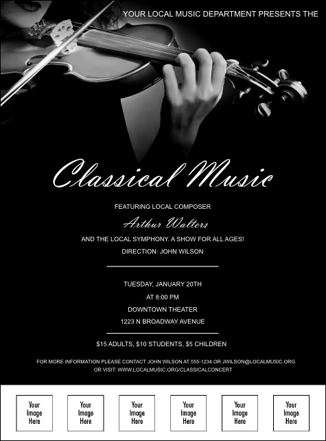 Classical Music Logo Flyer Product Front