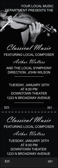 Classical Music Event Ticket Product Front