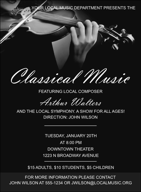 Classical Music Invitation