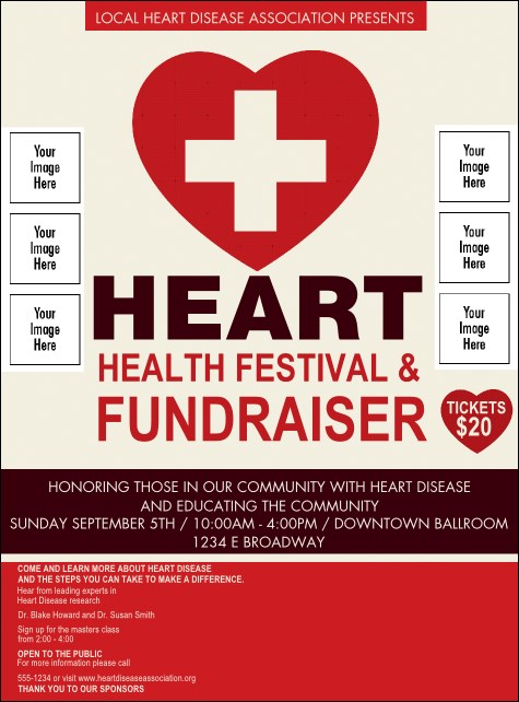 Heart Health Logo Flyer