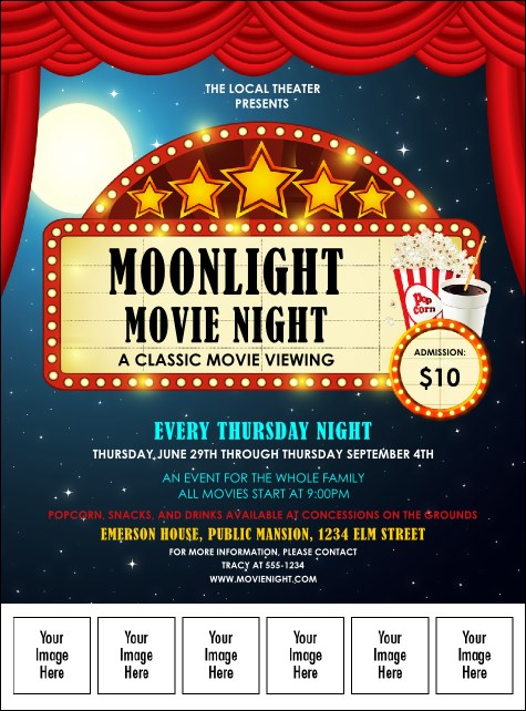 Movie Night Logo Flyer