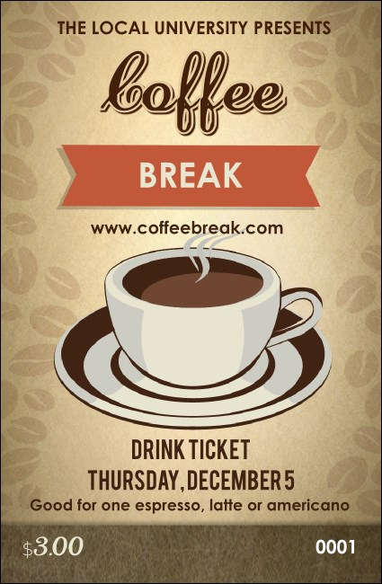 Coffee Drink Ticket