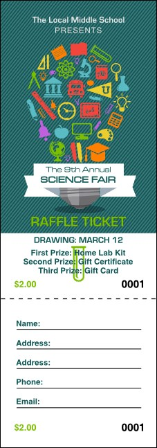 Science Fair Raffle Ticket