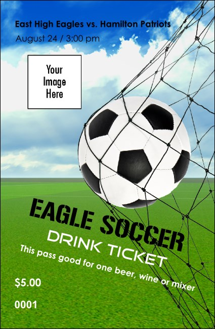 Soccer Schedule Drink Ticket Product Front
