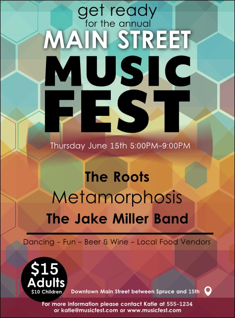 Music Festival Flyer Product Front
