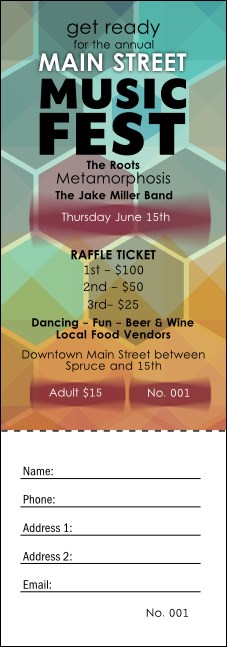 Music Festival Raffle Ticket