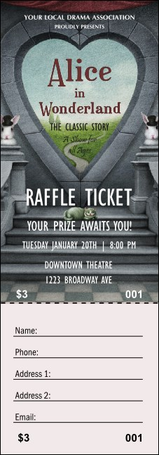 Alice in Wonderland Raffle Ticket
