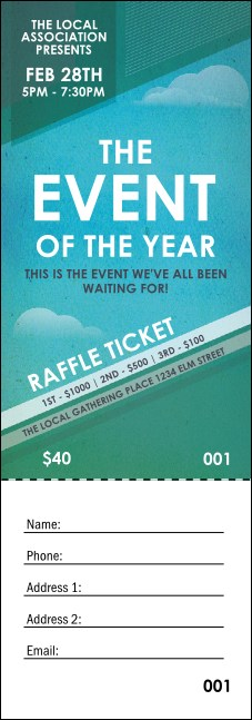 All Purpose Clouds Raffle Ticket Product Front