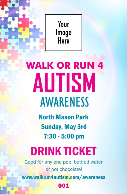 Autism Awareness Drink Ticket