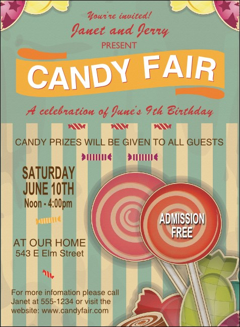 Retro Candy Invitation