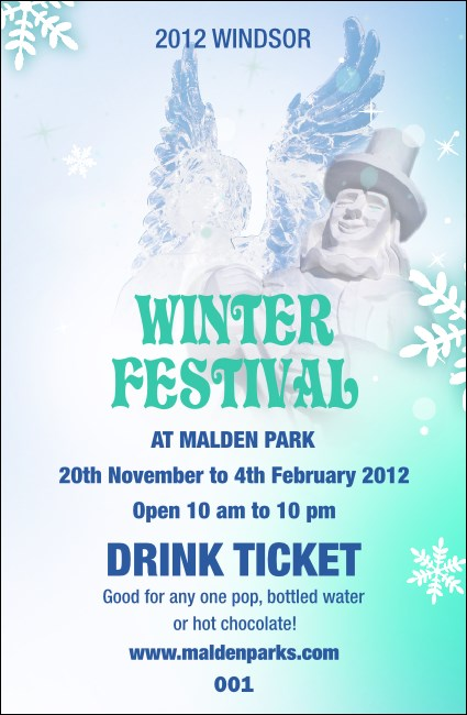 Winter Festival Drink Ticket Product Front