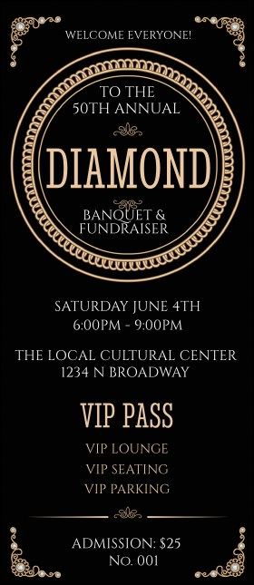 Diamonds Black VIP Pass