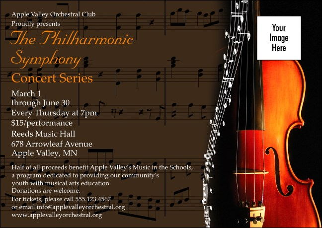 Symphony Club Flyer Product Front