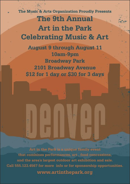 Denver Club Flyer Product Front