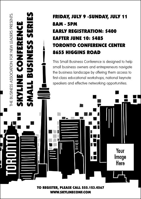 Toronto Club Flyer (Black & white) Product Front