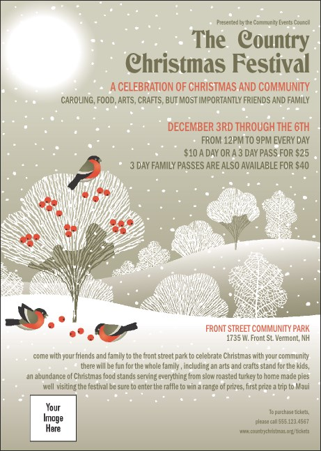 Winter Bird Club Flyer