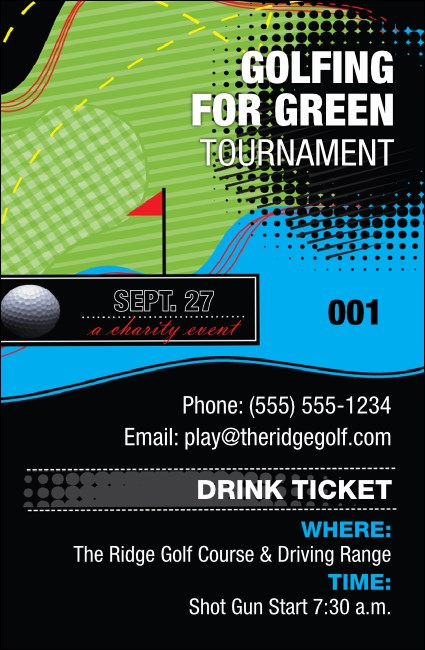 Golf Water Hazard Drink Ticket
