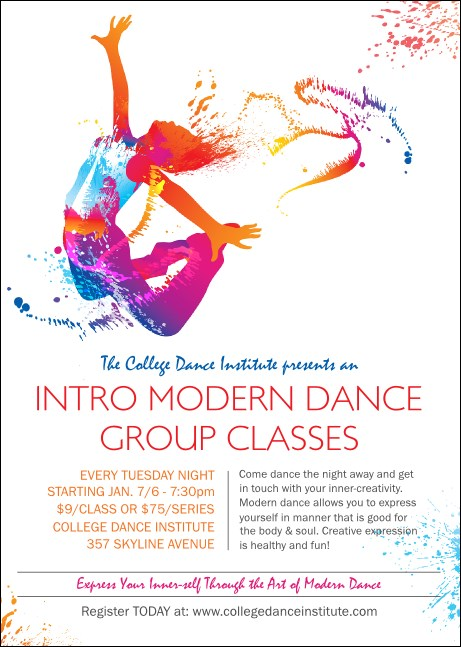 Modern Dance White Club Flyer