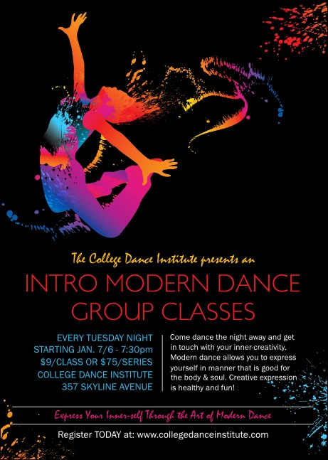 Modern Dance Black Club Flyer