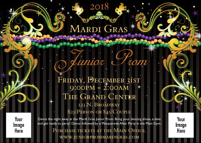 Mardi Gras Beads Club Flyer