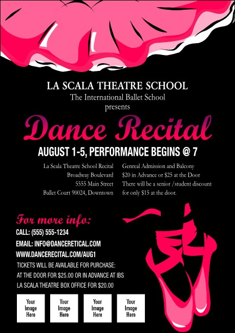 Dance Recital Club Flyer Product Front