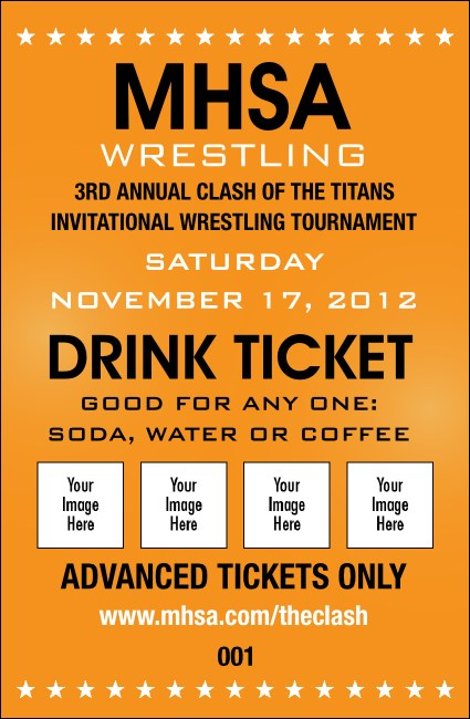 Versus Orange Drink Ticket