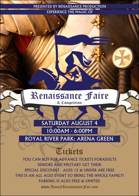 Renaissance Faire Armor Club Flyer