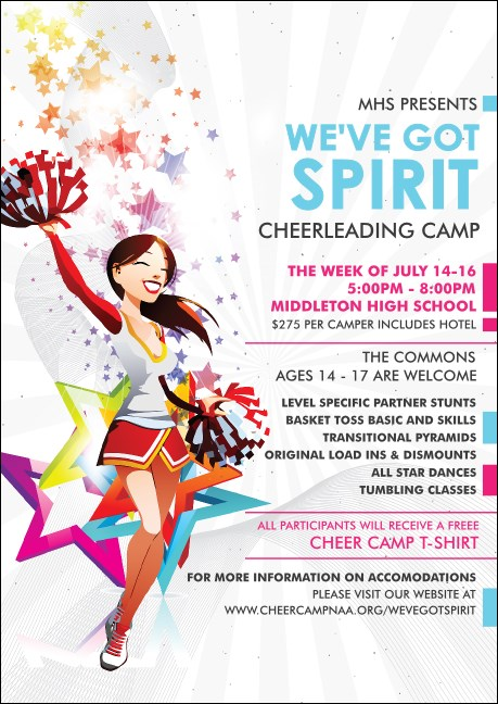 Cheerleading Spirit Club Flyer