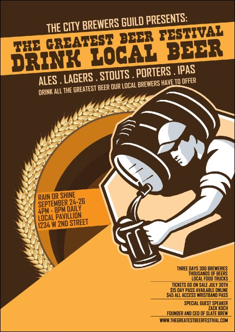 Beer Festival - Artisan Club Flyer