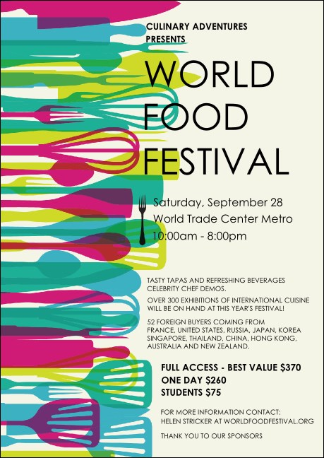 World Food Festival Club Flyer