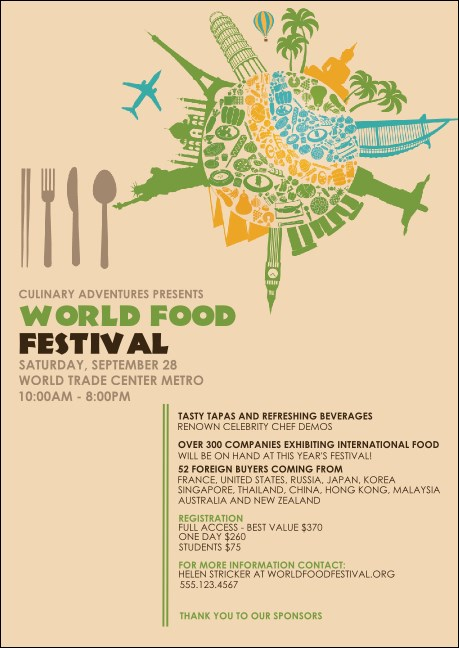 Food Festival Club Flyer