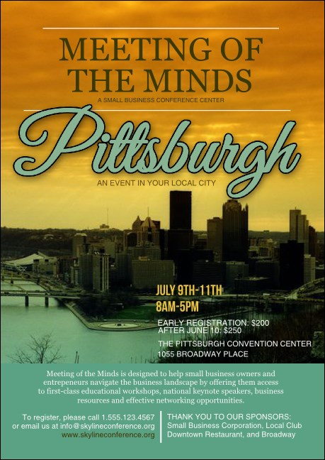 Pittsburgh Club Flyer