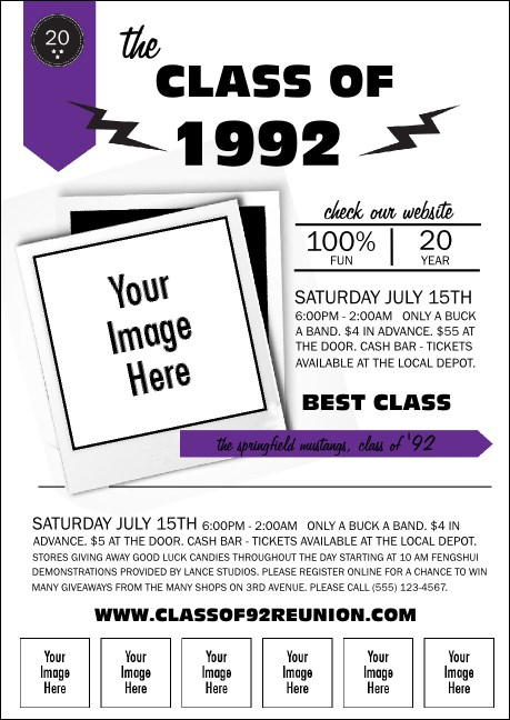 Class Reunion Mascot Purple Club Flyer