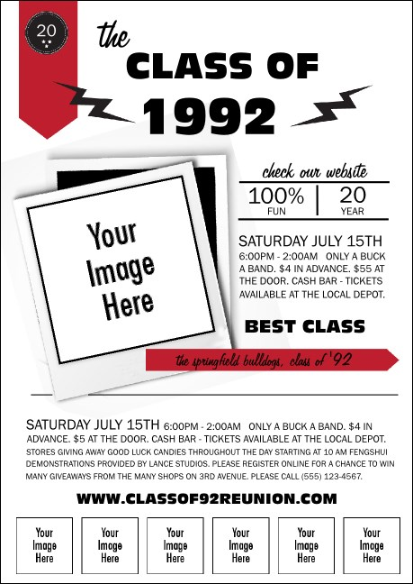 Class Reunion Mascot Red Club Flyer Product Front