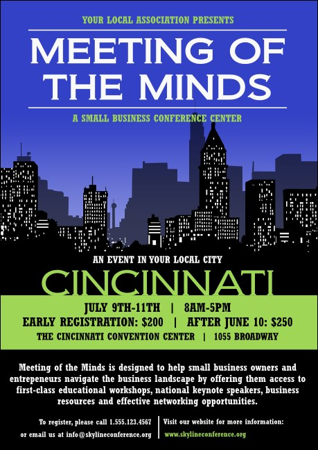 Cincinnati Skyline Club Flyer