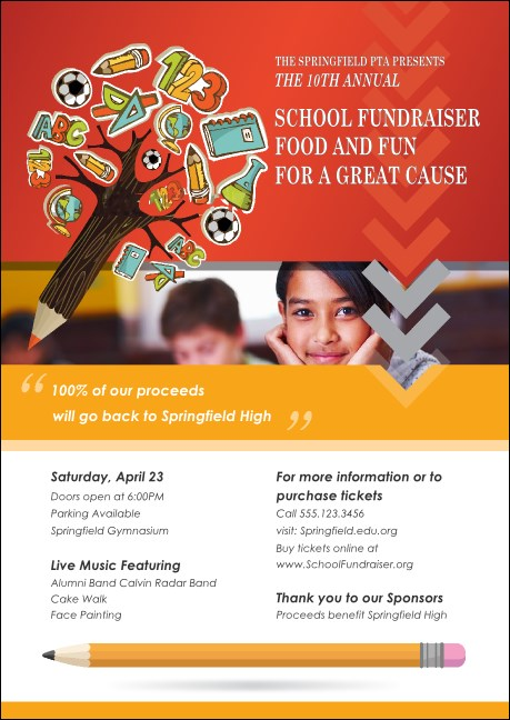 Fundraiser for Education Club Flyer