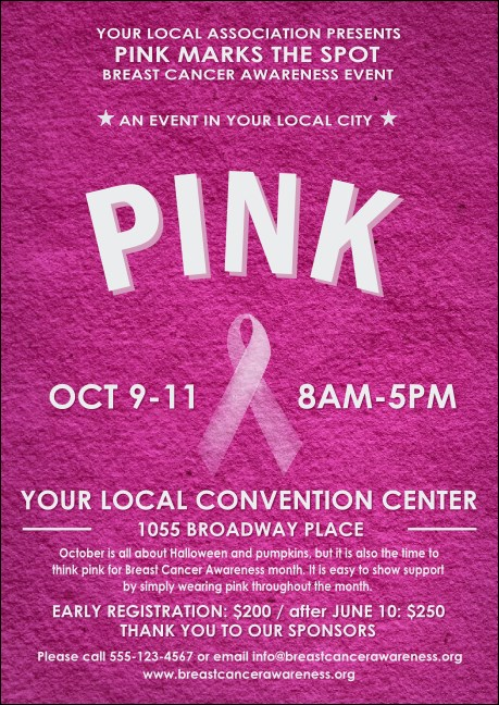 Breast Cancer Pink Ribbon Club Flyer